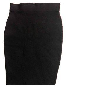 Skirt thick band high rise midi